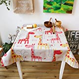Dibujos animados mantel lino y algodón–MeMoreCool cocodrilo verde cuadrado decoración del hogar 33x 33cm, algodón, Rosa, 55x55inch