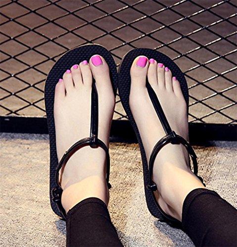pengweiSommer Freizeit rutschfeste flache Boden-Frauen Wort Hausschuhe r?mische Sandalen Zehen Hausschuhe 2