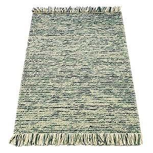 Flair Rugs Retreat Maya Tapis 100% laine tissé à franges Bleu sarcelle/Turquoise 120 x 170 Cm