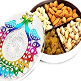 #7: Ghasitaram Gifts Bhaidooj Gifts Dry fruits - Peacock Multipurpose Dryfruit Box