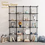 Tespo DIY Metal Wire Storage 20 Cubes, Multi-Use Modular Storage Shelving rack, Open Organiser Closet Cabinet for Books, Toys, Tools.
