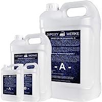 3Kg 2K Résine époxy transparente Glaçage Epoxyde bi composant Epoxy Resine Coulée Cristalline PRV table sol bois fibre…