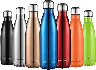cmxing Doppelwandige Thermosflasche 500 mL / 750 mL mit Tasche BPA-Frei Edelstahl Trinkflasche Vakuum Isolierflasche Sportflasche für Outdoor-Sport Camping Mountainbike