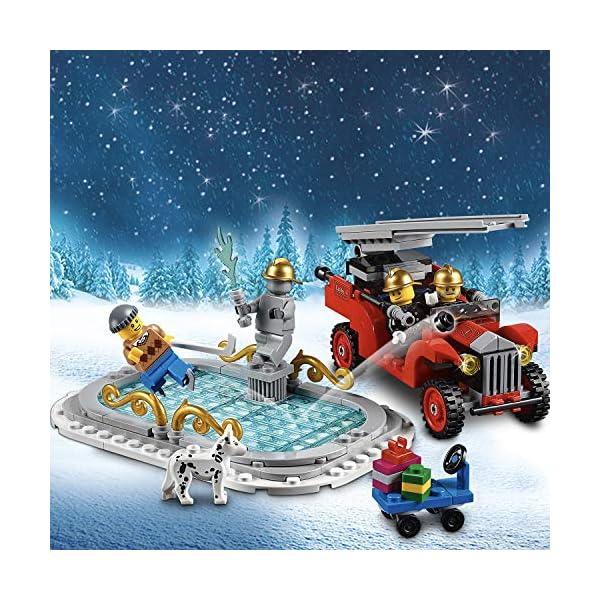 LEGO 10263 Creator Expert Winter Village Fire Station, Stazione dei vigili del fuoco per bambini 4 spesavip