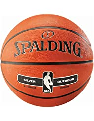 Spalding Uni NBA Silver Outdoor SZ.7(83–494z) Basketball, Arancione, 7.0