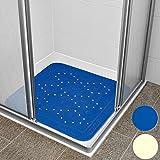 Duschmatte Duscheinlage Duschwanneneinlage - mit rutschfesten Saugnäpfen - Antirutsch - blau - Farbwahl