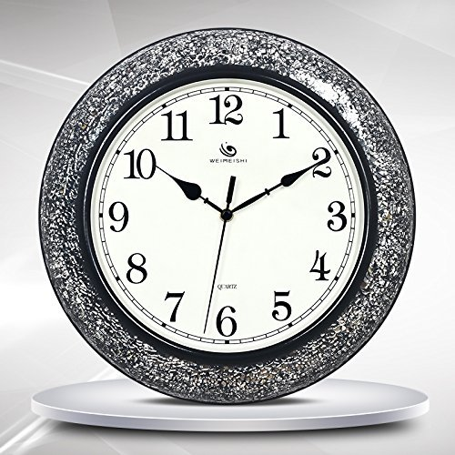Jiaa Wall Clock for Living Room Innovative Trend Black White Mosaic Home Decoration