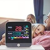 KKTECT Monitoraggio della qualità dell'aria 7 in 1 Analizzatore di formaldeide PM2.5 HCHO TVOC AQI Sensore di temperatura e u