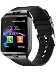 Faawn Digital Men's Smartwatch with Bluetooth 4G Supported Sim Card (Black)