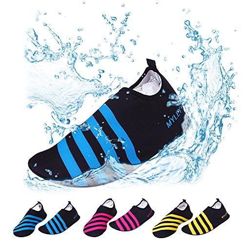 Aesy Plongée Chaussures, Semelles Souples Unisexes Pieds Nus se Sentant des Chaussettes Aux de l'eau Sèche Rapide, pour la Plage de Natation Surf Yoga