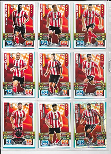 Match Attax 2015 2016 Southampton Full Base Team  Club Badge and Star Player 18 Cards