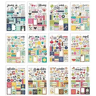 Unbekannt Simple Stories Planer Essentials Aufkleber, Papier, Mehrfarbig, 21x 14x 0,4cm
