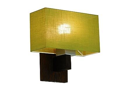 lampe murale design wero vitoria 016 a 14 variantes applique murale applique lampe bois massif chne bois de chne green transparent amazonfr - Applique Murale Design Bois