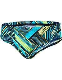 Speedo Boy 's wavaweave Allover Brief–Negro/Bali Blue, tamaño 30/6,5cm