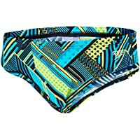 Speedo Wavaweave Allover - Bañador de tipo calzoncillos, Niños, color Black/Bali Blue, tamaño 26