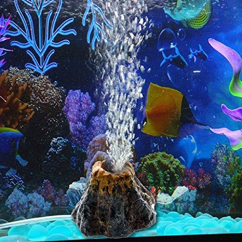 GUBENM Aquarium Deko Höhle, Aquarium Dekoration Aqua Ornaments, Aquarium Vulkan Form & Luft Blase Stein Sauerstoffpumpe Fisch Tank Ornament Dekor (Ornament Tank Fisch Luft)