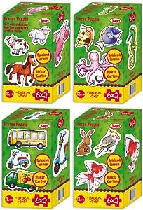Bayer Design - Puzzle Set con 4 Motivos, por Motivo 6 x 2 Piezas, por Puzzle 13 x 13 cm (69900-set)