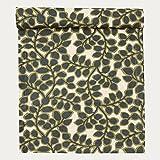 Linum Tischwäsche Varity florales Muster Blätterranken grün khaki (Tischläufer 45x150cm)