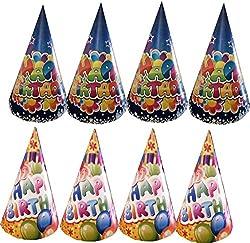 MultiColor Happy Birthday Hats / Caps - Assorted Design