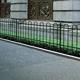 Xinglieu Fencing materiale ornamentali Palisade recinto di sicurezza in acciaio nero a cerchio top Fence meteo e impermeabile recinto adatto per tutti i tipi di esterni