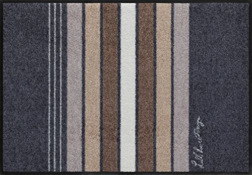 Salonloewe Fußmatte waschbar Pure Style Block Stripes Grey 75x120 cm SLD1103-075x120
