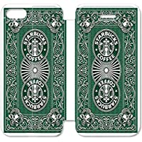 Funda iPhone 6 6S Plus 5.5 Inch Wallet Leather Case,Eartha Dolores Shop [Starbucks] 5Y7CR