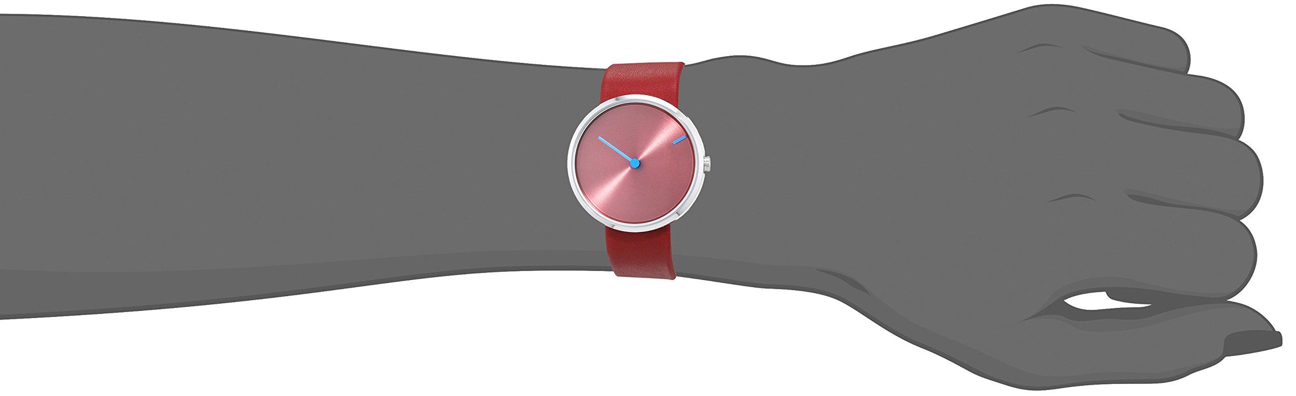Jacob Jensen Reloj analógico para Unisex de Cuarzo con Correa en Piel