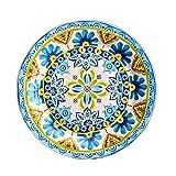 YUWANW Ink Vintage-Stil | Sommer mexikanische Keramik westliche Teller Teller Dekorplatte Glasurfarbe home flache Platte