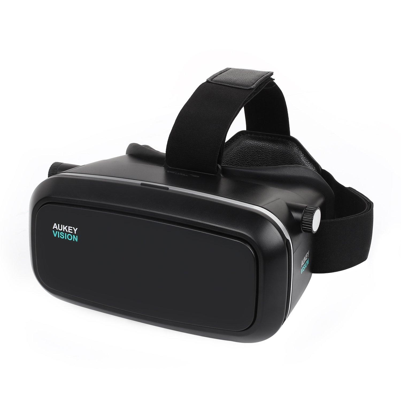 Aukey 3d VR Lunettes de réalité virtuelle–Réglable Pour 3d Films et les jeux vidéo. Compatible avec les iPhone et smartphones Samsung entre 3,7et 14cm (Vr-o1)