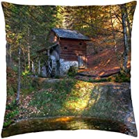 Grist Mill - Throw Pillow Cover Case (18