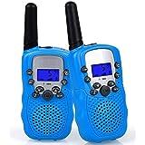 Flybiz Walkie Talkie Niños PMR446 8 Canales LCD Pantalla Función VOX 10 Tonos de Llamada Bloqueo de Canal Linterna Incorporad