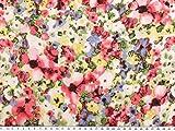 Feiner Baumwoll-Batist, Blumen, pink-mehrfarbig, 142cm