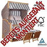 BEREITS MONTIERT ! STRANDKORB DEVRIES PURE GREENLINE 170 XL DESSIN 699, FSC-ZERTIFIZIERT