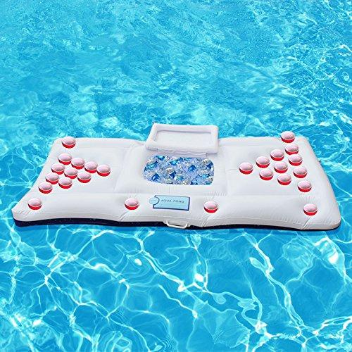 *weiß 180 * 90cm PVC Sommer-Schwimmen-aufblasbares schwimmendes Bier-Tabellen-Reihen-Wasser-Bett für Swimmingpool*