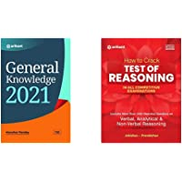 General Knowledge 2021 + How to Crack Test Of Reasoning (Set of 2 Books)(New Edition)