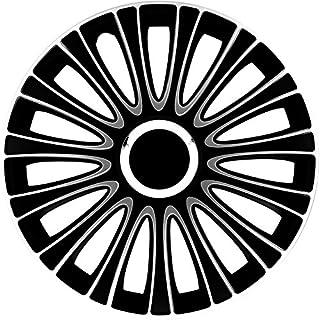 AutoStyle Lemans Pro Radkappe, Schwarz/Weiß, 1 Stück
