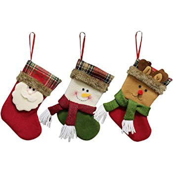 Tinksky Christmas Candy Bags Cute Santa Claus Drawstring Gift Treat ... 0d6b730e99ea