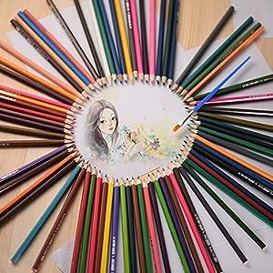 61L1Inkx0AL. SS300  - KKmoon-72-color-Premium-pre-sharpened-agua-soluble-en-agua-lpices-de-colores-Set-con-cepillo-para-nios-adultos-artista-arte-dibujo-escritura-arte-para-colorear-libros