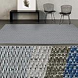 casa pura Indoor- & Outdoor-Teppich Geona | Bodenbelag für Flur, Küche, Bad, Terrasse, Balkon, Garten | kunstvoll Gewebt mit Schimmer Optik | Viele Größen (90x100 cm)