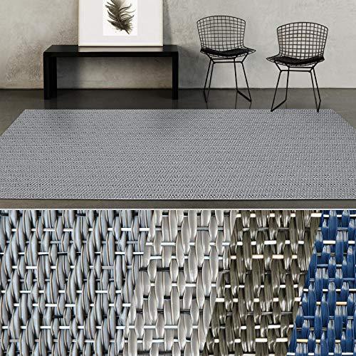 casa pura® Indoor- & Outdoor-Teppich Geona | Bodenbelag für Flur, Küche, Bad, Terrasse, Balkon, Garten | kunstvoll gewebt mit Schimmer Optik | Viele Größen (180x400 cm) -