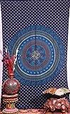 Handicrunch Blue Mandala Tapestries, Hip...