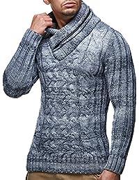 LEIF nELSON lN6001 pull en tricot pour homme