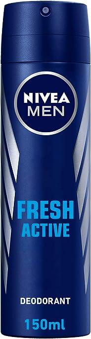 NIVEA, MEN, Deodorant, Fresh Active, Spray, 150ml