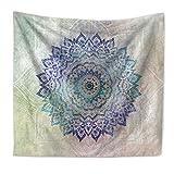 weiwei Mandala-Blume-gobelin, Ethno-Stil Drucken Plane Home Hintergrundwand Badetücher Kissen-A 200cmX150cm