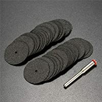 Multifunción CMF 50 PCS 24mm Resina de Corte de la Rueda de Corte del Disco Kit for Dremel + 1pc Mandril