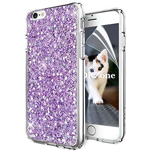 OKZone Cover iPhone 6S,Custodia iPhone 6 Custodia Lucciante con Brillantini Glitters Ultra Sottile Designer Case Cover per Apple iPhone 6 / iPhone 6S 4.7 Pollici (Viola)