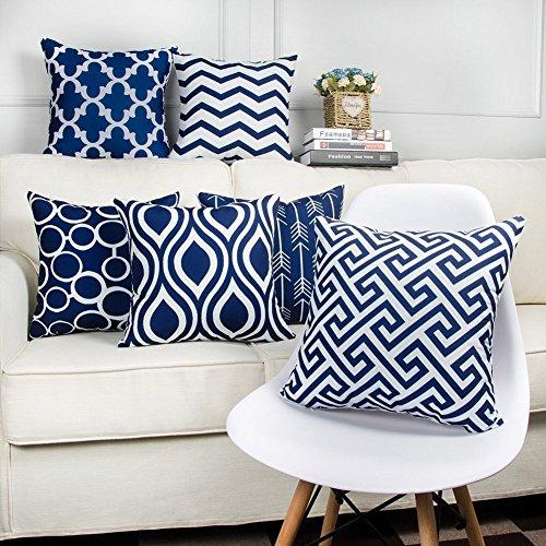 Style Crome Navy Blue Designer Decorative Cushion Covers (Set of 6 )...