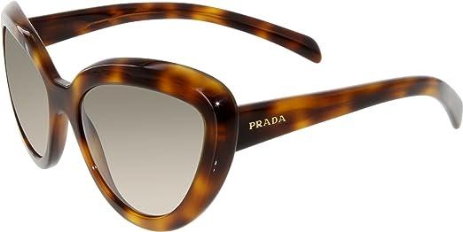 schön gemusterte Sonnenbrillen Gläser mit Farbverlauf Damen Prada