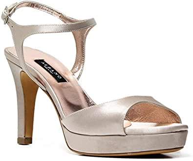 ALBANO Sandalo Elegant Laminato Argento Cerimonia 2117