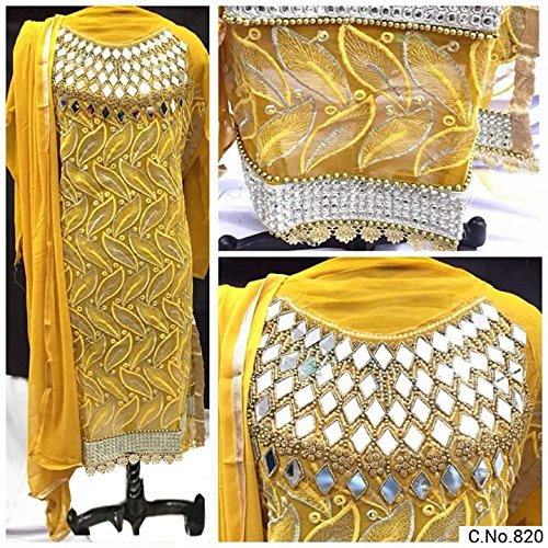 BHUMIK ENTERPRISE Yellow COLOR LATEST INDIAN DESIGNER ANARKALI SALWAR KAMEEZ DRESS for...